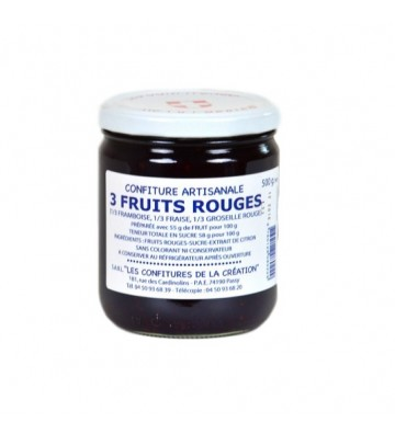 Confiture 3 fruits rouges