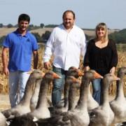 Famille Ramajo et oies