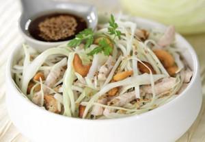 Salade chou blanc poulet
