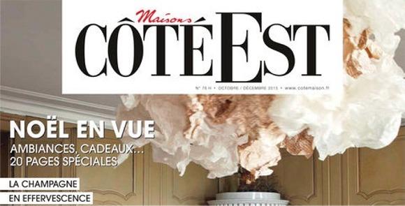 Bandeau supérieur de la couverture du magazine Côté Est du mois d'octobre 2015