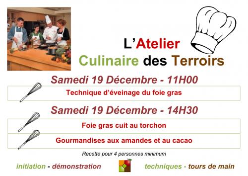 Affiche du cours de cuisine du 19 décembre