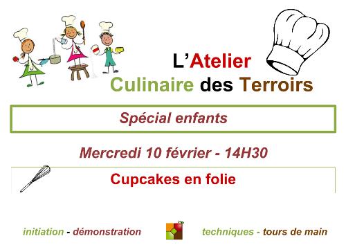 Affiche du cours de cuisine spécial enfants de février 2016