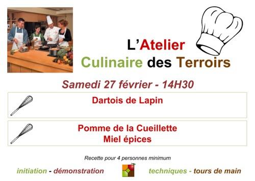 Affiche Atelier Culinaire Février 2016