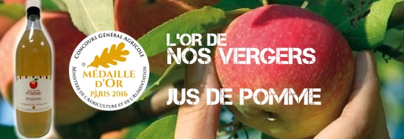 Médaille d'Or pour notre jus de pomme au Concours Général Agricole 2016