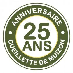Logo anniversaire des 25 ans de la Cueillette de Muizon