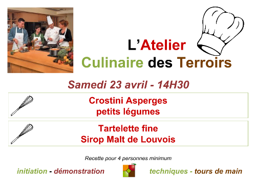 Affiche Atelier Culinaire Avril 2016