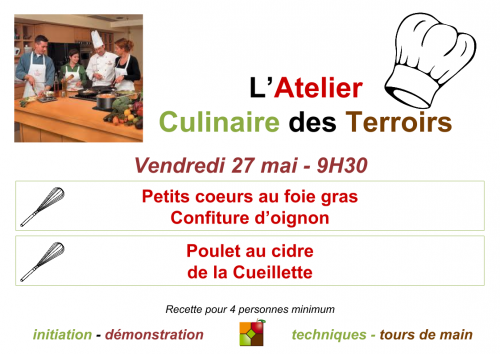 Affichage Atelier Culinaire Mai 2016