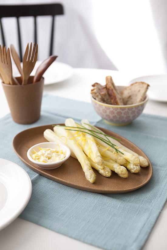 Asperges blanches sauce mascarpone au citron - Photo 2