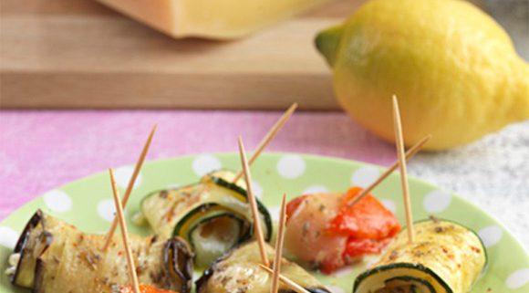 Tapas aux légumes grillés à l'Emmental