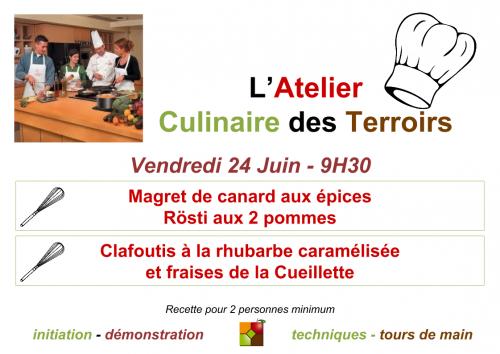 Affiche Atelier Cuisine Juin 2016