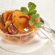 Salade de melon au citron vert et magret fumé