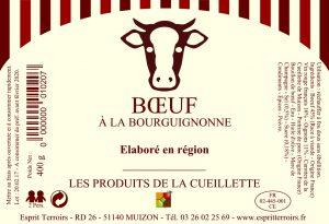 Etiquette Boeuf à la Bourguignonne
