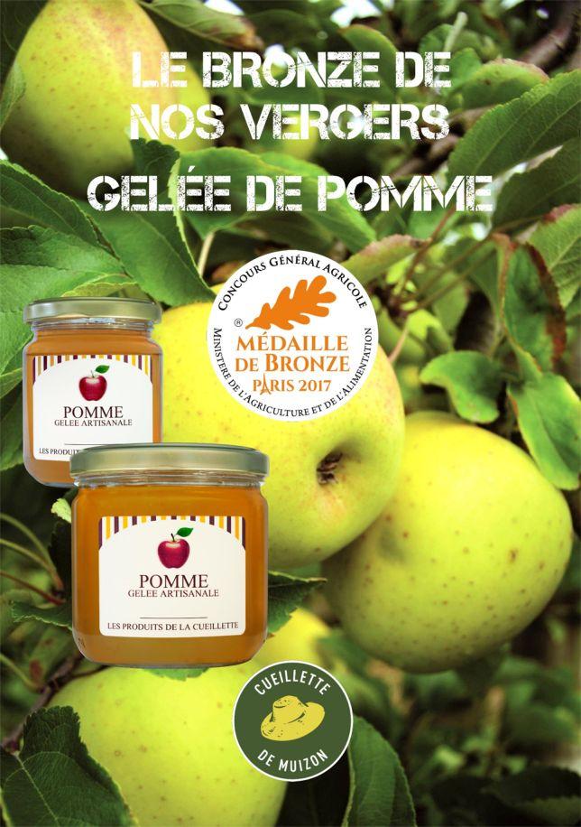 Affiche Médaille de bronze 2017 Gelée de Pomme