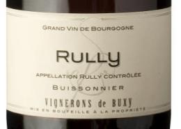 Étiquette Rully rouge Buisonnier