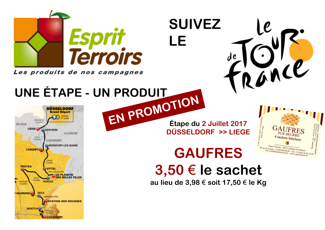 Promotion Tour de France : Gaufres