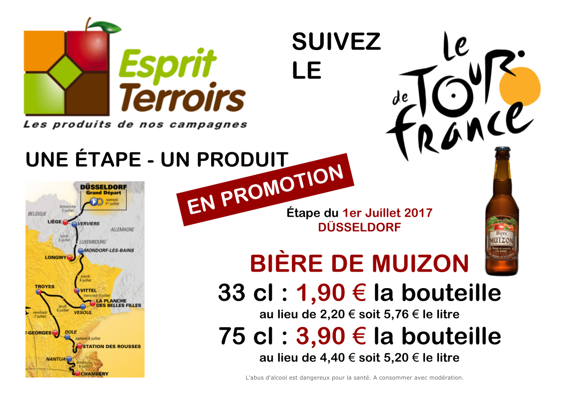 Tour de France : Promotion Bière de Muizon