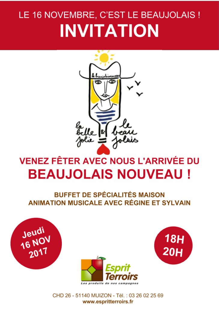 Invitation Beaujolais 2017