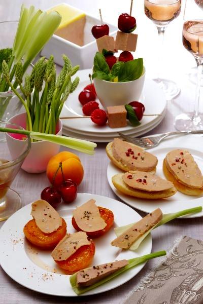 Tartines de foie gras grande