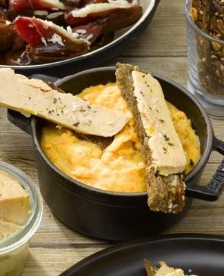 Flans au foie gras