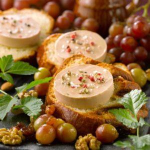 Foie gras sur pain brioché