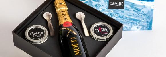 Coffret Caviar et Champagne