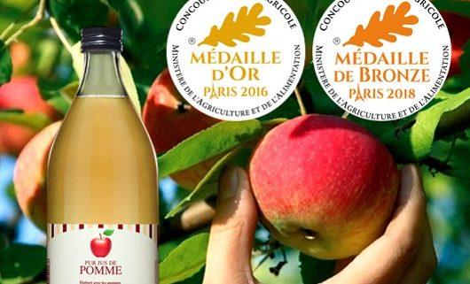 Médailles au Concours Général Agricole pour Jus de Pomme de la Cueillette de Muizon