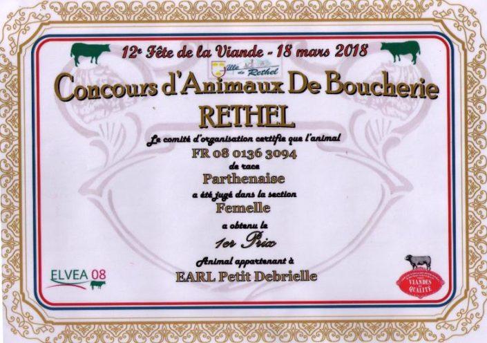 1er Prix Concours de Rethel 2018