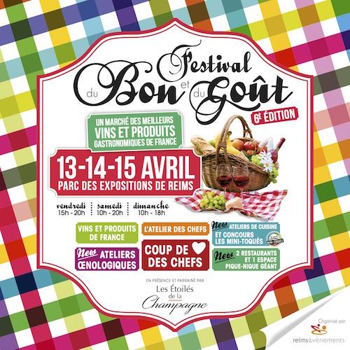 Affiche carrée du Festival du Bon et du Goût 2018 à Reims