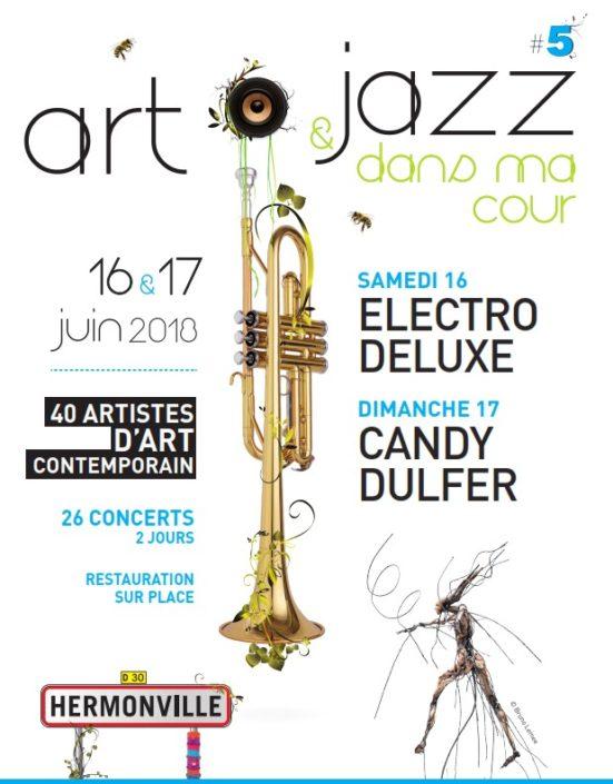 Flyer Art et Jazz dans ma cour 2018