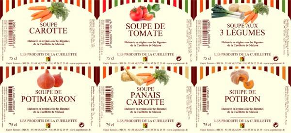 Bandeau étiquettes soupes