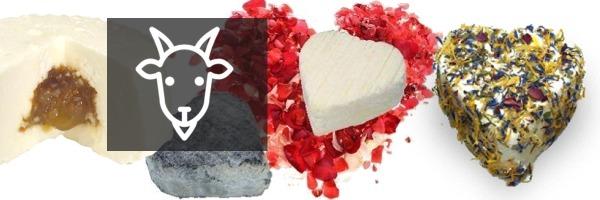 Fromages de chèvre pour la Saint Valentin