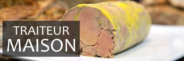 Bandeau Traiteur maison avec foie gras