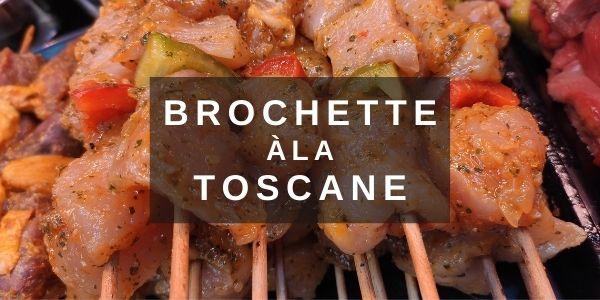Brochettes de dinde marinées à la Toscane