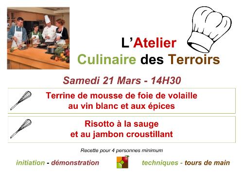 Atelier Culinaire de Mars 2015